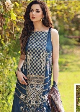 Shiza Hassan Embroidered Lawn Unstitched 3 Piece Suit SH20L 1-A BLISS - Luxury Collection
