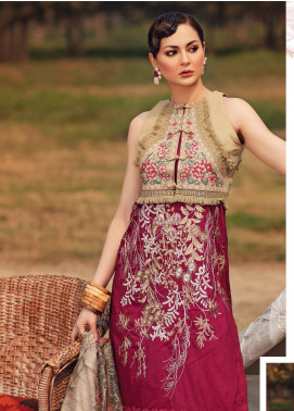 Shiza Hassan Embroidered Lawn Unstitched 3 Piece Suit SH20L 2-A SECRET GARDEN - Luxury Collection
