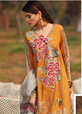 Shiza Hassan Embroidered Lawn Unstitched 3 Piece Suit SH20L 2-B SECRET GARDEN - Luxury Collection