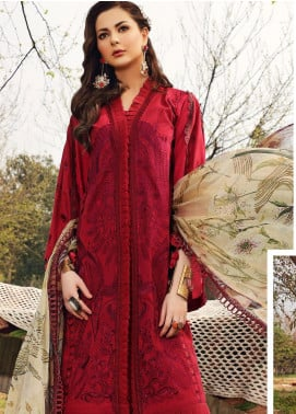 Shiza Hassan Embroidered Lawn Unstitched 3 Piece Suit SH20L 3-A RELISH - Luxury Collection