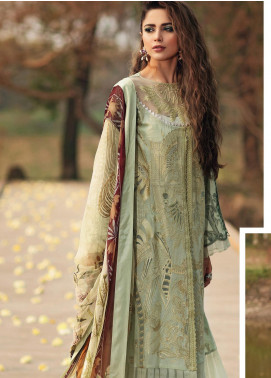 Shiza Hassan Embroidered Lawn Unstitched 3 Piece Suit SH20L 3-B RELISH - Luxury Collection