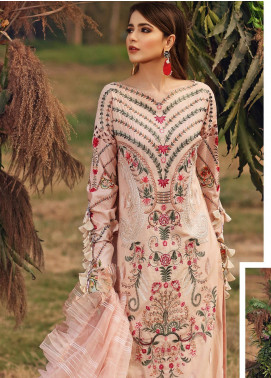 Shiza Hassan Embroidered Lawn Unstitched 3 Piece Suit SH20L 5-A SUMMER BREEZE - Luxury Collection