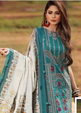 Shiza Hassan Embroidered Lawn Unstitched 3 Piece Suit SH20L 7-A SOFT SPRING - Luxury Collection