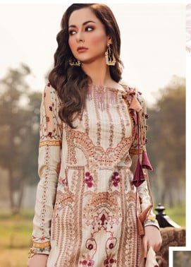 Shiza Hassan Embroidered Lawn Unstitched 3 Piece Suit SH20L 7-B SOFT SPRING - Luxury Collection