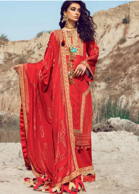 Shiza Hassan Embroidered Jacquard Unstitched 3 Piece Suit SH21W 005 Birgul - Winter Collection