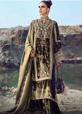 Shiza Hassan Embroidered Velvet Unstitched 3 Piece Suit SH21W 007 Lyle - Winter Collection