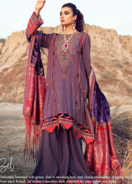 Shiza Hassan Embroidered Twill Unstitched 3 Piece Suit SH21W 009 Zel - Winter Collection