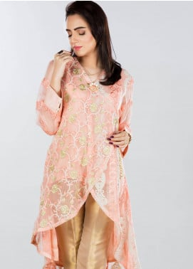 Sheqe Embroidered  Stitched Kurtis SHQ18K C-008 PINK