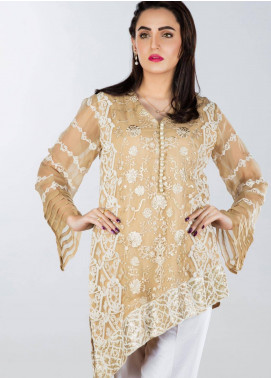 Sheqe Embroidered  Stitched Kurtis SHQ18K C-009 FAWN