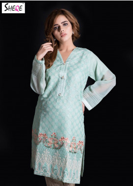 Sheqe Embroidered  Stitched Kurtis SHQ18K C-026 SKY BLUE