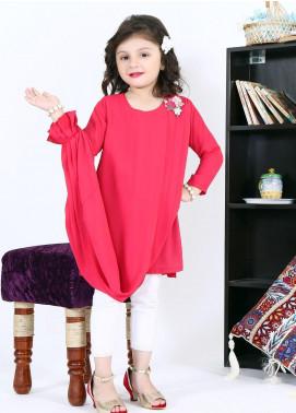 Sidra Mumtaz Chiffon Fancy 2 Piece Suit for Girls -  PINK GLAM