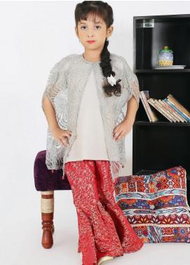 Sidra Mumtaz Net Fancy Girls 3 Piece Suit -  SHIMMY