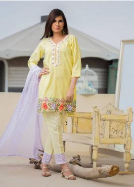 Sidra Mumtaz Embroidered Schiffli Stitched 3 Piece Suit AUREATE