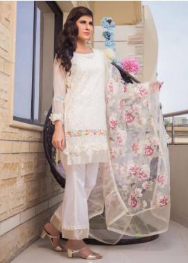 Sidra Mumtaz Embroidered Schiffli Stitched 3 Piece Suit DEER