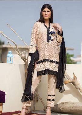 Sidra Mumtaz Embroidered Schiffli Stitched 3 Piece Suit DUSKY