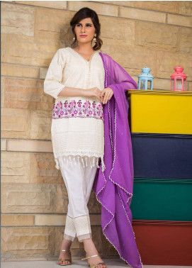 Sidra Mumtaz Embroidered Schiffli Stitched 3 Piece Suit ERYTHRONIUM