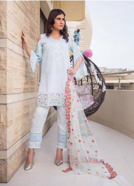 Sidra Mumtaz Embroidered Schiffli Stitched 3 Piece Suit PHEONIX