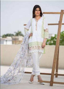 Sidra Mumtaz Embroidered Schiffli Stitched 3 Piece Suit VIRIDESCENT