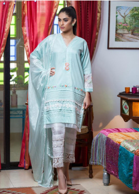Sidra Mumtaz Embroidered Cotton Silk Stitched 3 Piece Suit DEER DAHLSTAR
