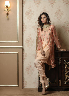 Sidra Mumtaz Embroidered Net Stitched 3 Piece Suit E-SW01-1705-SORBET WAVE