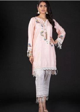 Sidra Mumtaz Embroidered Cotton Silk Stitched 2 Piece Suit 10 SWIRL