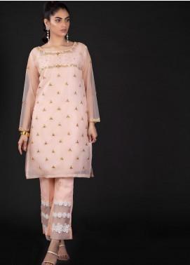 Sidra Mumtaz Embroidered Organza Stitched 2 Piece Suit 2B DIMANTI