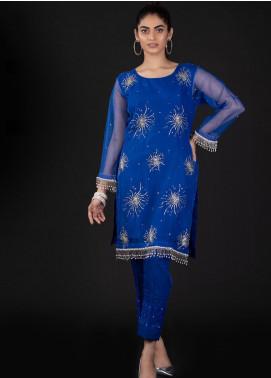 Sidra Mumtaz Embroidered Organza Stitched 2 Piece Suit 5A STELLA