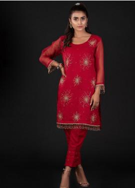 Sidra Mumtaz Embroidered Organza Stitched 2 Piece Suit 5B STELLA