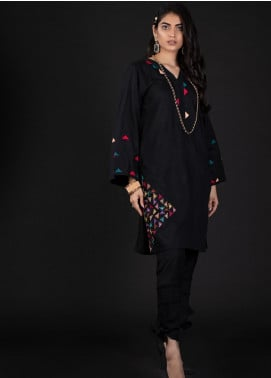 Sidra Mumtaz Embroidered Cotton Silk Stitched 2 Piece Suit 7 TIPPSY TURVY