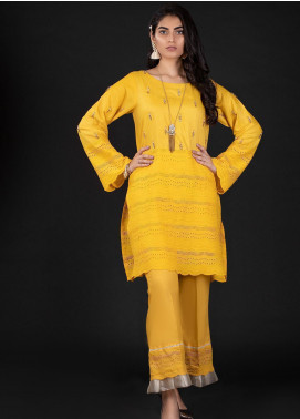 Sidra Mumtaz Embroidered Schiffli Stitched 2 Piece Suit 8 CAPESANTE