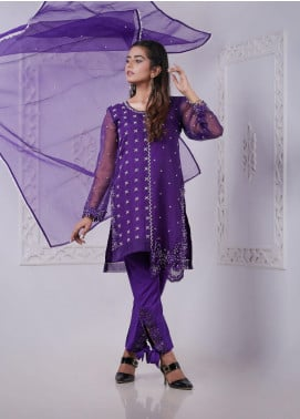 Sidra Mumtaz Embroidered Organza Stitched 3 Piece Suit BELLA