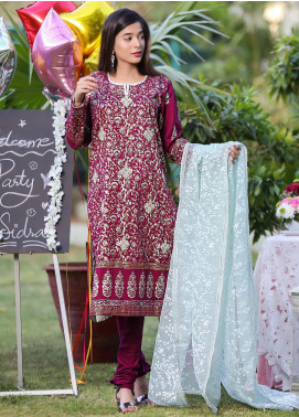 Sidra Mumtaz Embroidered Lawn Stitched 3 Piece Suit Aleena