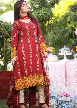 Sidra Mumtaz Embroidered Lawn Stitched 3 Piece Suit Awamira