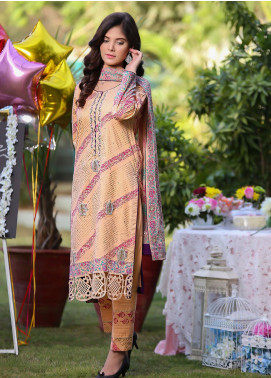 Sidra Mumtaz Embroidered Lawn Stitched 3 Piece Suit Sumbul