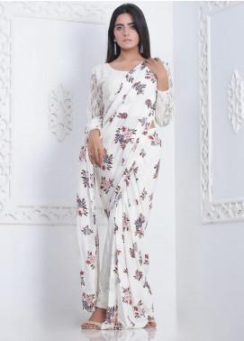 Sidra Mumtaz Printed Linen Stitched 3 Piece Saree SM20PD ENCANTADORA