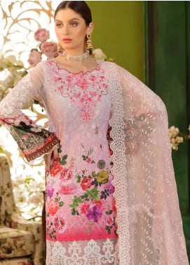 Sifona Embroidered Chikankari Unstitched 3 Piece Suit SFA19CK 03 FUCHSIA GARDEN - Luxury Collection