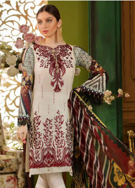 Sifona Embroidered Lawn Unstitched 3 Piece Suit SFA19CK 12 FIRE & ICE - Luxury Collection