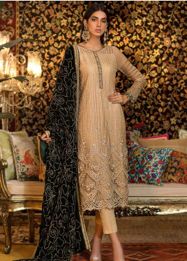 Sifona Embroidered Chiffon Unstitched 3 Piece Suit SF19CV ECV-02 Ethnic Green - Winter Collection
