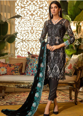 Sifona Embroidered Chiffon Unstitched 3 Piece Suit SF19CV ECV-05 Subtle Luxury - Winter Collection