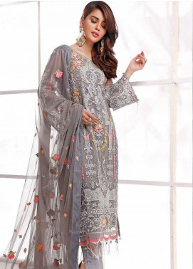 Sifona Embroidered Organza Unstitched 3 Piece Suit SF20E SEL-04 NOTTE KINGDOM - Luxury Collection