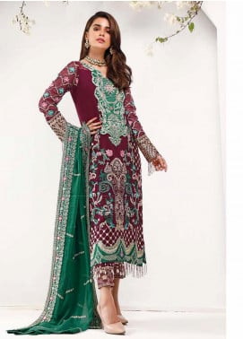 Sifona Embroidered Chiffon Unstitched 3 Piece Suit SF20E SEL-06 RESPLENDENT FAD - Luxury Collection