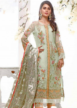 Sifona Embroidered Organza Unstitched 3 Piece Suit SF20E SEL-08 ELURE MINT - Luxury Collection