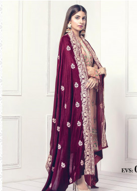 Sifona Embroidered Velvet  Shawl SF19SH 01 - Winter Collection