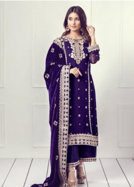 Sifona Embroidered Velvet  Shawl SF19SH 04 - Winter Collection