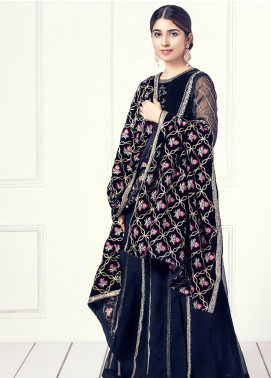 Sifona Embroidered Velvet  Shawl SF19SH 06 - Winter Collection