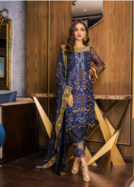 Sifona Embroidered Chiffon Unstitched 3 Piece Suit SFE19LC 02 Koannarugrace - Luxury Collection