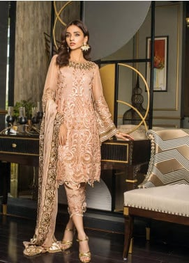 Sifona Embroidered Chiffon Unstitched 3 Piece Suit SFE19LC 06 Tacao Bellissimo - Luxury Collection