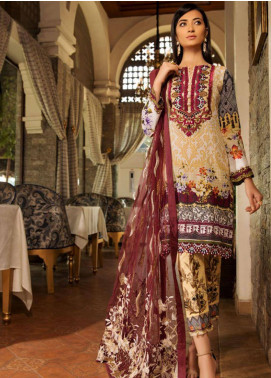 Sifona Embroidered Lawn Unstitched 3 Piece Suit SFM19L 09 Pastel Citrine - Spring / Summer Collection