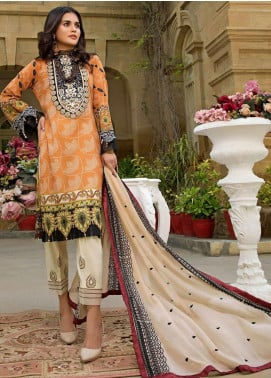 Sifona Embroidered Lawn Unstitched 3 Piece Suit SF20ML 01 - Luxury Collection