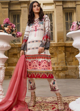 Sifona Embroidered Lawn Unstitched 3 Piece Suit SF20ML 02 - Luxury Collection